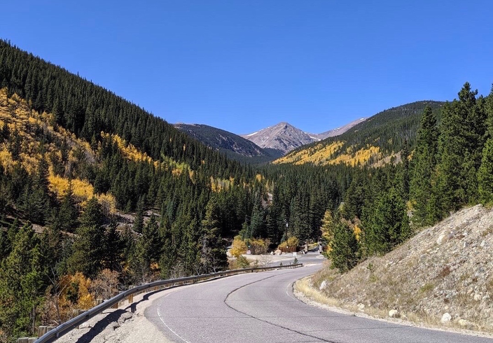 Mountains with road